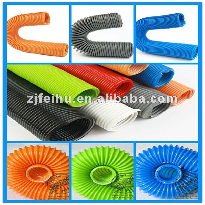 Flexible reinforced pvc spring hose