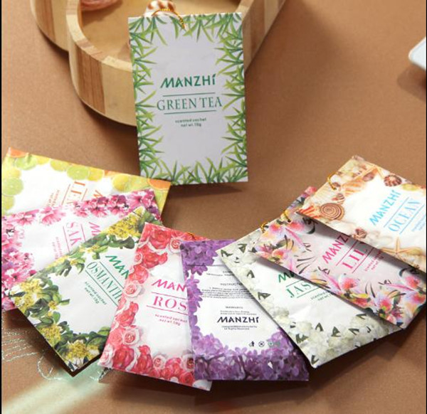Aroma bags paper scented sachet air freshener