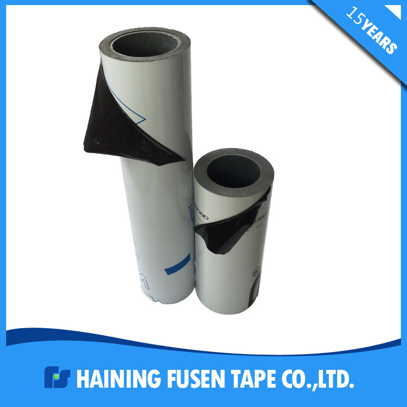 70 micron black & white aluminium sheet pe protection film manufacturer