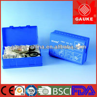 blue first aid/emergency boxes/devices/cabinets for workplace ABS box