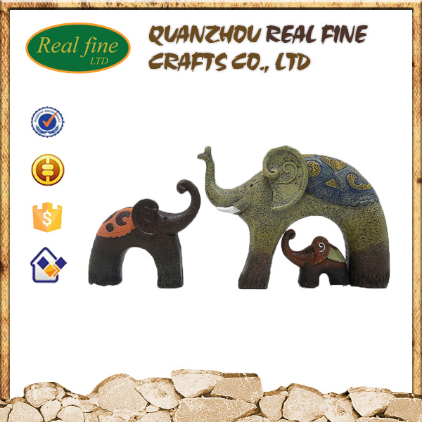 Custom resin lovely elephant sculpture for home decoration