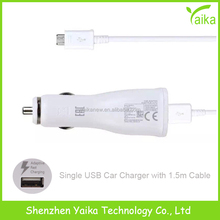 Yaika Wholesale for Samsung Galaxy S6 One USB Port Quick Car Charger with USB Cable
