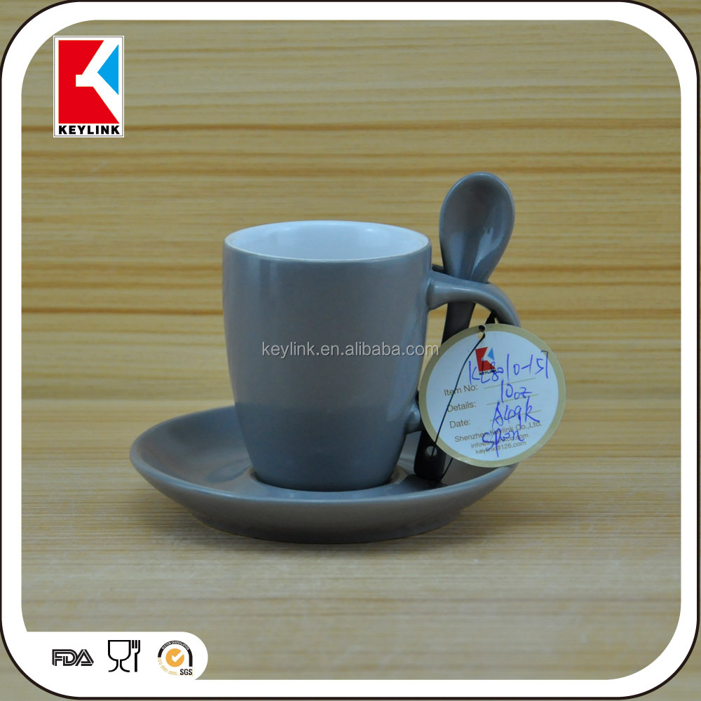 blank coffee mugs wholesale promotional gift ceramic cup and plate