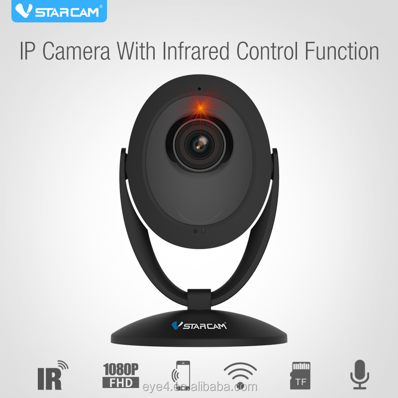 Wireless Indoor 1080P FULL HD IP Camera ir viewerframe mode with remote control