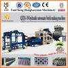 QT4-15 Fully Automatic industrrial brick paving machine with concrete mixer and auto stacker