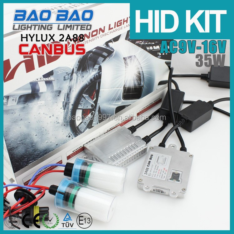 Hi Lo Beam HYLUX CANBUS hid kit, car HYLUX CANBUS hid lamps, hid kit AC 35w , BAOBAO Lighting
