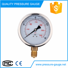 high precision stainless steel air gas water hydraulic oil bourdon tube pressure gauge