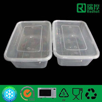 Disposable rectangular container for food/lunch box with lid/preservation box 650ml