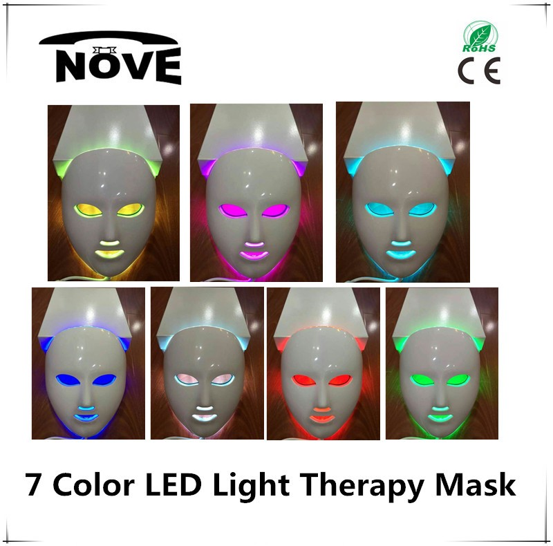 Low price 7 colors LED light therapy mask led home skin care machine home use led mask korean beauty product