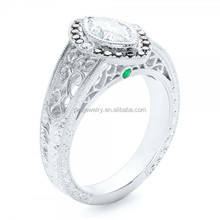 China factory infinity Jewellery with zircon stone factory directly,wedding hand carved silver ring