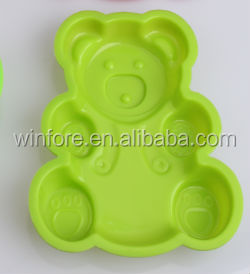 cake mold Colorful cute bear shaped silicone cake mould