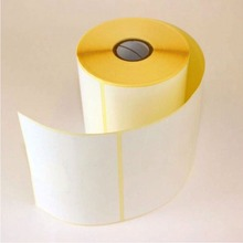 "5 rolls of Thermal labels 100MM x 150MM(6"" x 4"") Plain White labels strong permanent adhesive approximately 500 labels per roll"