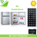 New Arrival Double Doors 90L Solar Refrigerator for Home use