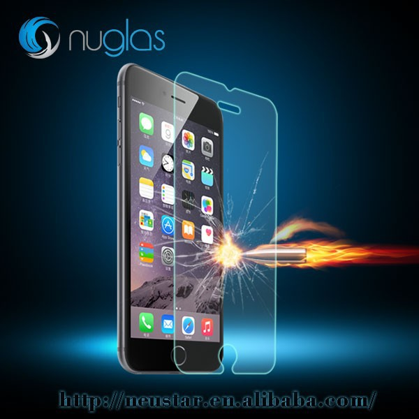 Premium tempered glass screen protector anti shock for iphone Nuglas brand , raw materials from Japan