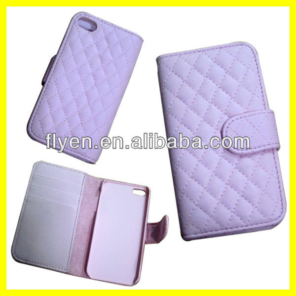Fashion Wallet Style With Card Slot Case For iPhone 5 5S Advance Leather Material Luxury Fold Cover Welcome Wholesale Pink