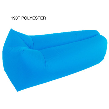 190T Polyester square sleeping bag, bean bag air lay bed bag, Outdoor sun inflatable lounger