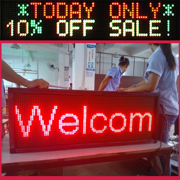 New product 2014 12/24V outdoor single white color led taxi sign /programmable led moving message sign board