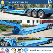 heavy duty 3 axles 60 tons drop deck front loading low loader trailer