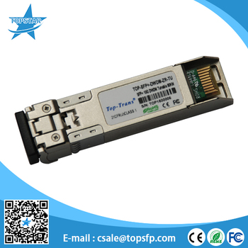 10G Tunable DWDM SFP+ 80km 50GHz Transceiver with DOM fiber optical module