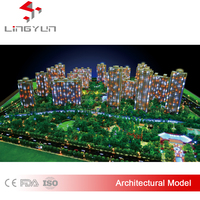 3D rendering architectural miniature model for real estate exhibition