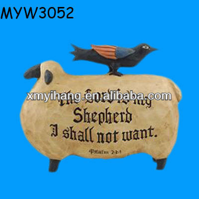 Cow Halloween figurine gifts Resin decorative flying crow