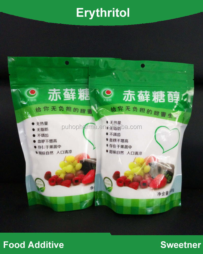 Wholesale bulk food grade low-calorie natural sweetener Erythritol powder for ice cream, chocolates, sugar substitutes
