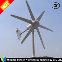 low noise wind speed 1000 w 5 blades small Windmills for sale