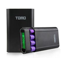Portable 18650 Tomo power bank case kit 4 slots power bank diy kit LCD display phone case