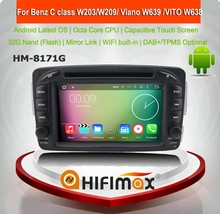 Android 7.1 radio for w210 android car GPS Navigation for benz Viano W639 (2004-2009) C-W203 G-W463 for mercedes w210 navigation