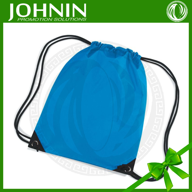 hot sales best sales fast produce costomized blue color high quality drawstring bag
