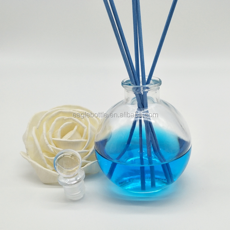 Beautiful design home decorative glass bottle 4oz /120ml aroma reed diffuser bottle decorative