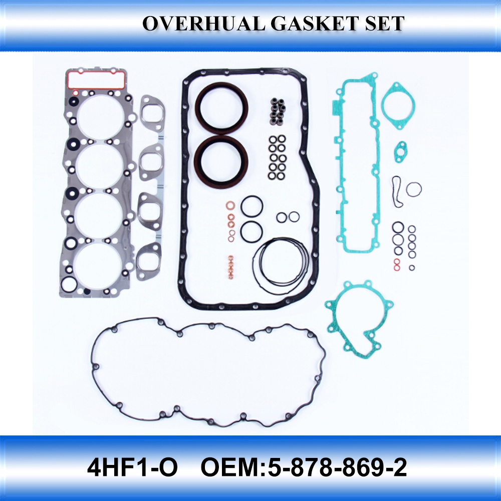 Truck engine parts 4HF1-O overhualing gasket set OEM:5-878-869-2
