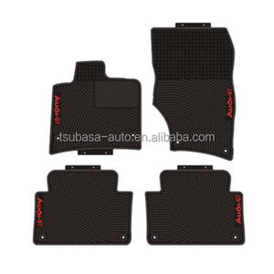 Customized logo car lift rubber polishing pad hair salon floor mats for AUDI Q7 2005 to 2010