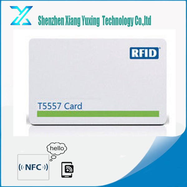 PVC 125khz LF rewritable T5577 EM4305 chip rfid smart card with customized printing