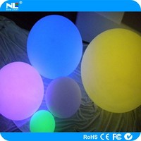 RGB rechargeable LED light ball outdoor / color changing LED magic ball light / clear plastic LED lighted balls