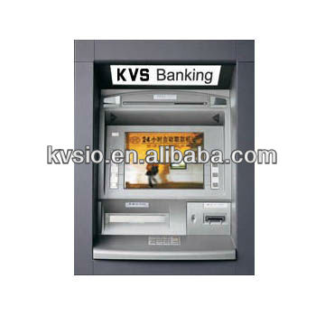 Eco friendly Self Service Wall Mounted ATM Machine / ATM Bank With Change Bill And Money Dispenser