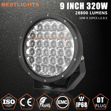 Automobile Accessories Round 9 inch 320W LED Work Driving Lights /LED Car Headlight for Wrangle, Jeep, 4X4 Vehicles