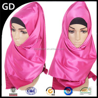 GDH0060 Colour and lustre is bright ladies fashion plaid scarf pashmina custom silk scarf