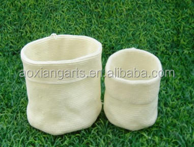Handicrafts Folding Fabric Textiles Baskets for Baby Clothes