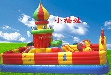 Small lucky doll inflatable castle, inflatable amusement park products on sale