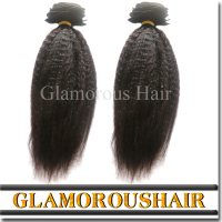 High Quality 100% Human Hair Mongolian Kinky Straight Yaki Hair Weave