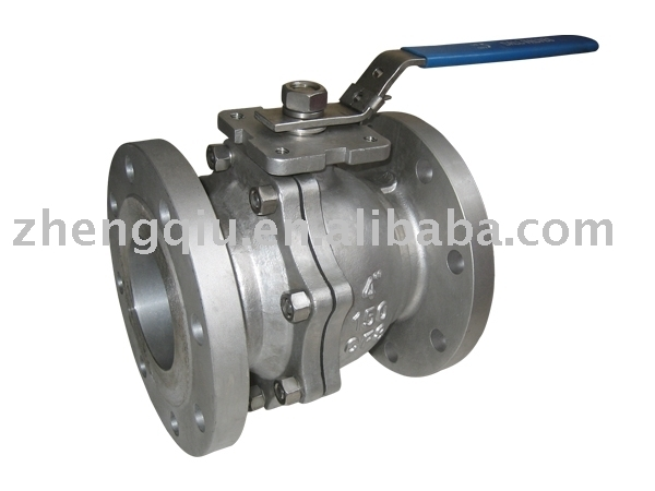 Cast Steel JIS 5K 10K 16K 20K FLANGED FLOATING 2-PIECE BALL VALVE WITH PAD