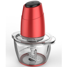 New design glass mini food chopper with 2 layer stainless steel blades and 1.2L glass bowl 300W motor