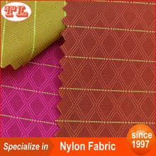 210D green line cover third line prismatic grid nylon fabric price per meter with PU coated