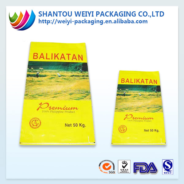 China Supplier Rice Packing Bag / Bag of Rice 5kg 10kg 25kg 50kg 100kg PP Woven Rice Bag