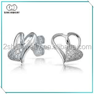 Best seller big and small hearts earring models