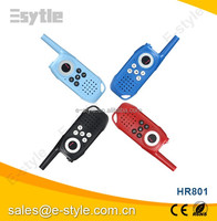 3 channels two way radio for child HR801 walkie talkie 3Km for 2014 new products kid toy