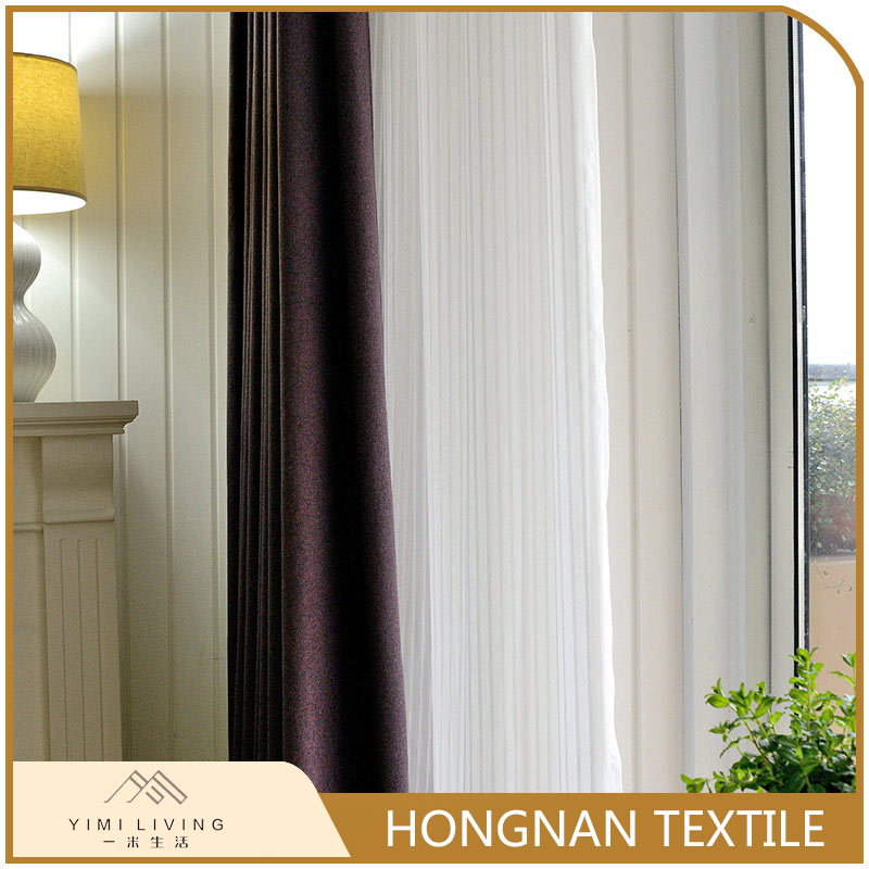 Top quality designer new lightproof linen fabric curtain