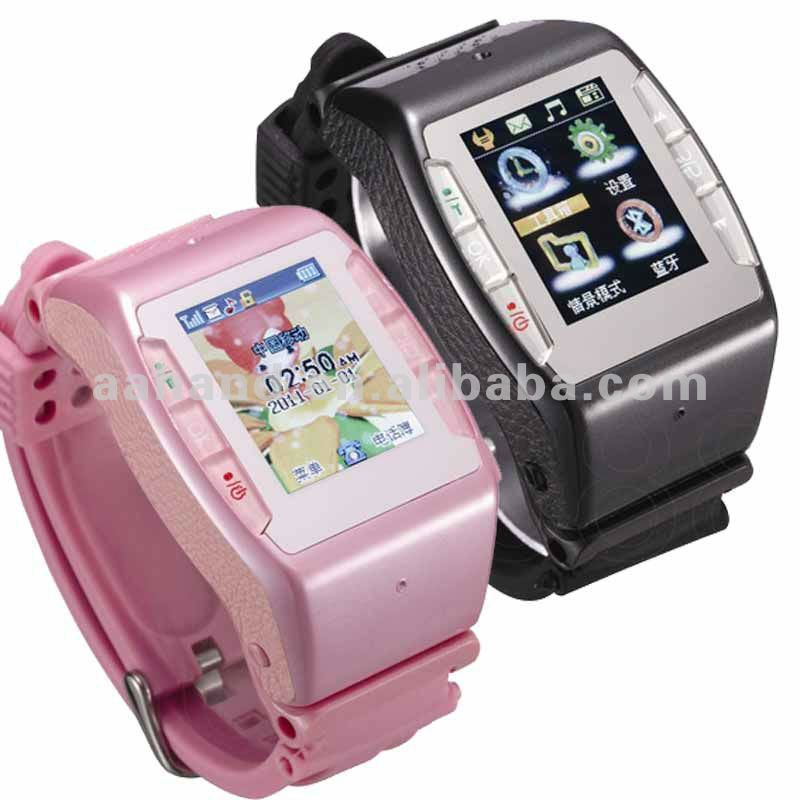 Hand Watch Mobile Phone N688 with Function Shake to change themes and songs GPS built in