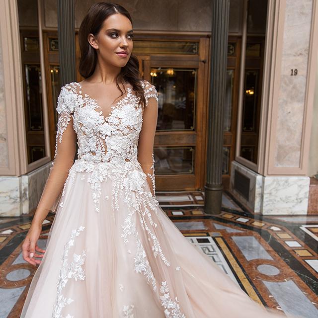 Bridal Bouquets Elegant Wedding Dress Bridal Gown Lace Moroccan